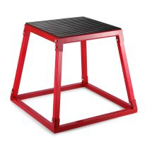 Happybuy Red Plyometric Platform Box for Training (12 Inch)