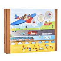 jackinthebox Things That Go Themed Craft Kit and Educational Toy for Boys and Girls   6 Activities-in-1 Kit   Great Gift for Boys Aged 7-10 Years Old   Learning Stem Toys (Things That Go 6-in-1)