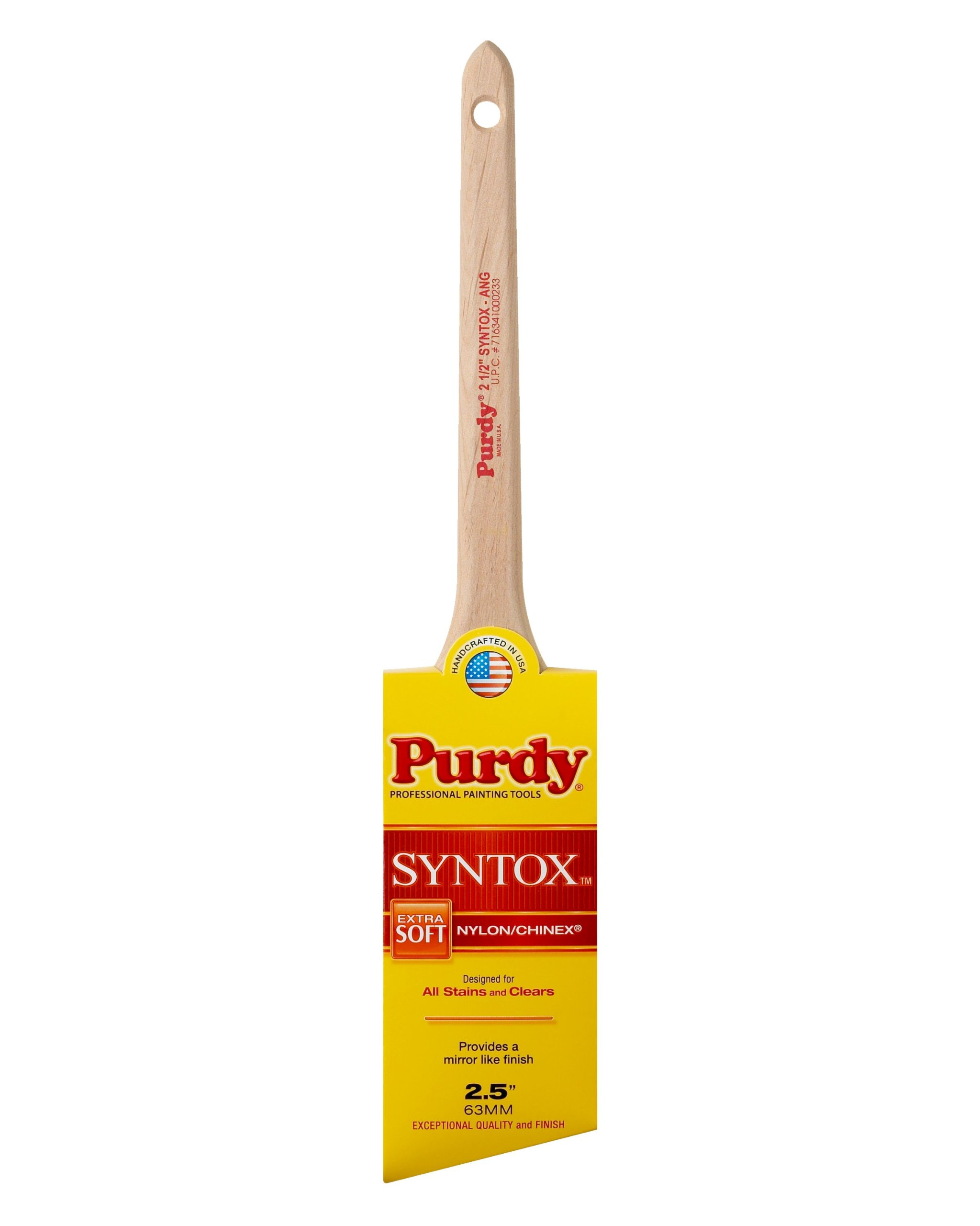 Purdy 144403625 Syntox Paint Brush, 2-1/2 in Width, Angular Dupont Chinex and Nylon Blend, 2.5 inch