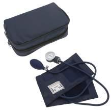 Manual Blood Pressure Monitor BP Cuff Gauge Aneroid Sphygmomanometer Machine Kit (Navy Blue)