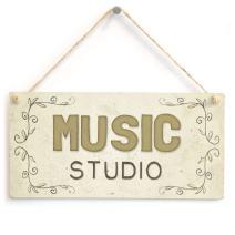 "Meijiafei Music Studio PVC Home Accessory Gift Sign 10""x5"""