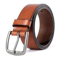 Leather Belts for Men 100% Top Grain Leather for Casual Dress Work Business Jeans Golf Belt