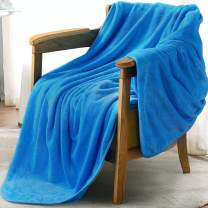 LEISURE TOWN Fleece Throw Blanket Fuzzy Soft Plush Blanket 330GSM for All Season Spring Summer Autumn Throw Blankets for Couch Bed Sofa, 50 by 60 Inches, Lake Blue