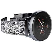 NewWays for Galaxy Active 2 Watch Band, 20mm Super Stunning Crystal Bracelet with Quick Release Pin for Galaxy Watch Smartwatch 42mm, Galaxy Watch Active 40mm 44mm, Black