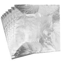 "YongBo Gold Leaf,Imitation Silver Gilding 100 Sheets 5.5"" X 5.5"" Aluminum Leaf Foil for Art Crafts,Home Decoration, Furniture,Painting"