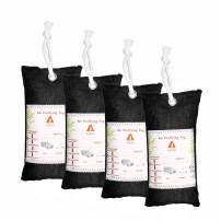 Audew Charcoal Air Purifying Bag (4 Pack), 100g Natural Air Freshener Bags, Activated Charcoal Odor Eliminators, Car Air Purifier, Closet Freshener, Home Air Freshener, Charcoal Bags