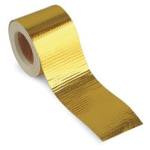 "Design Engineering 010396 Reflect-A-GOLD High-Temperature Heat Reflective Adhesive Backed Roll, 2"" x 15' Roll"