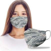 VTH Global United States Air Force Military Camouflage Camo Pattern Cloth Reusable Washable Face Mask Women Men for Dust Protection