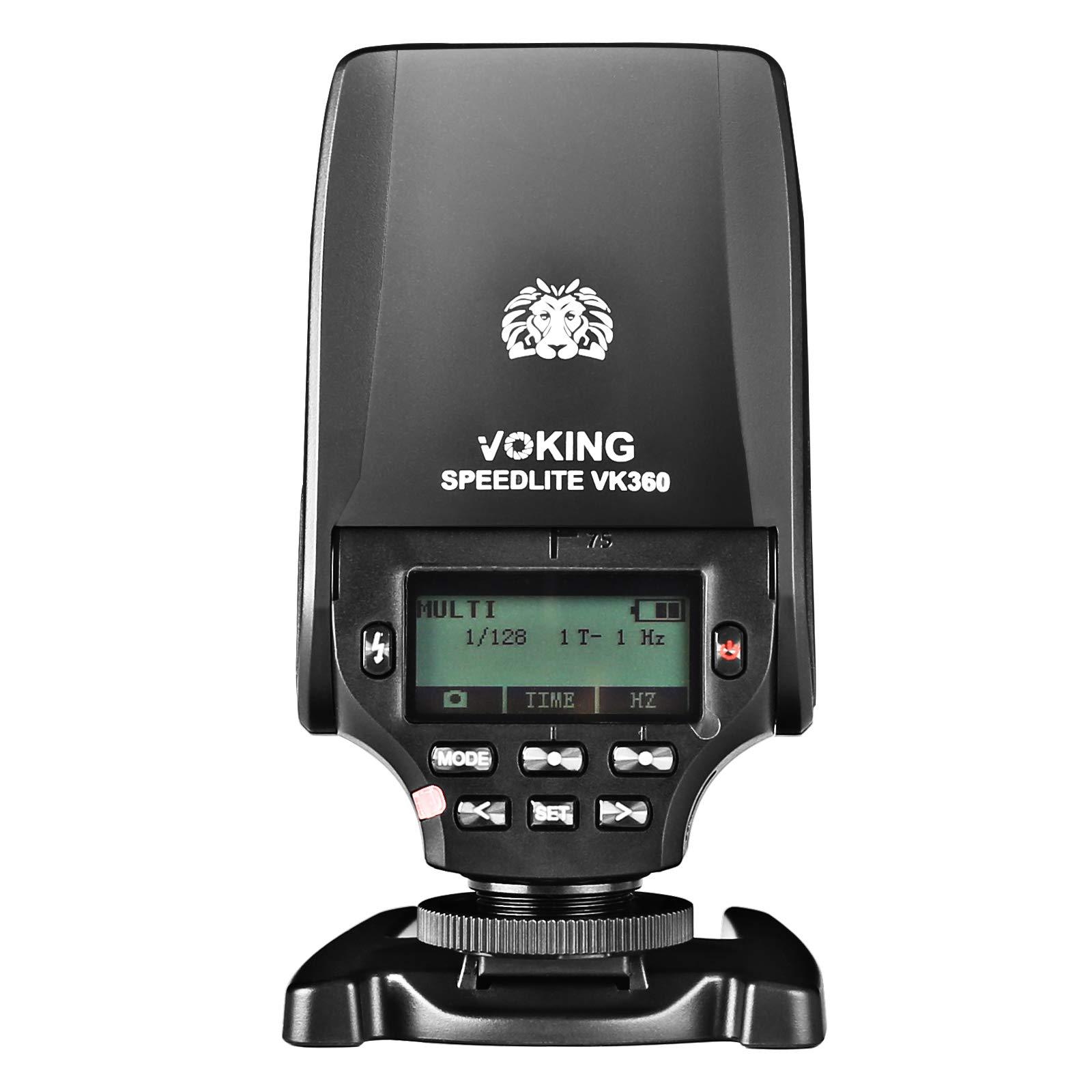 Voking VK360F TTL Master HSS Flash Speedlite for FujiFilm Hot Shoe Cameras X-E3 X-T3 X-T1 X-T2 X-T3 X-T4 X-T10 X-T20 X-T100 X-M1 X100s X-T200