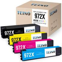 TEINO Remanufactured Ink Cartridges Replacement for HP 972X 972A 972 for Pagewide Pro MFP 477dw 577dw 477dn Pagewide MFP 377dw Pagewide Pro 452dw (Black, Cyan, Magenta, Yellow, 4 Pack)