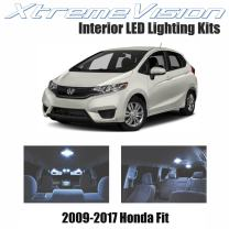 Xtremevision Interior LED for Honda Fit 2009-2017 (4 Pieces) Cool White Interior LED Kit + Installation Tool