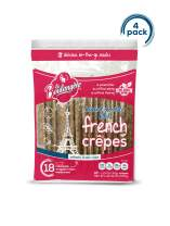 La Boulangere Chocolate Hazelnut Filled Crepes - Non GMO - Individually Wrapped - Pack of 4, 18-Count (72 Total Crepes)