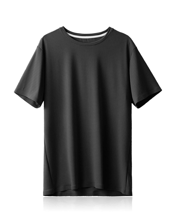 BALEAF Men's Cooling Workout Running Athletic Shirts Quick Dry Soft UPF 50+ Short Sleeve Lightweight T-Shirt