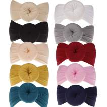 Newborn Turban Knotted Headbands - Toddler Infant Baby Girls Rond-Dot Headwrap