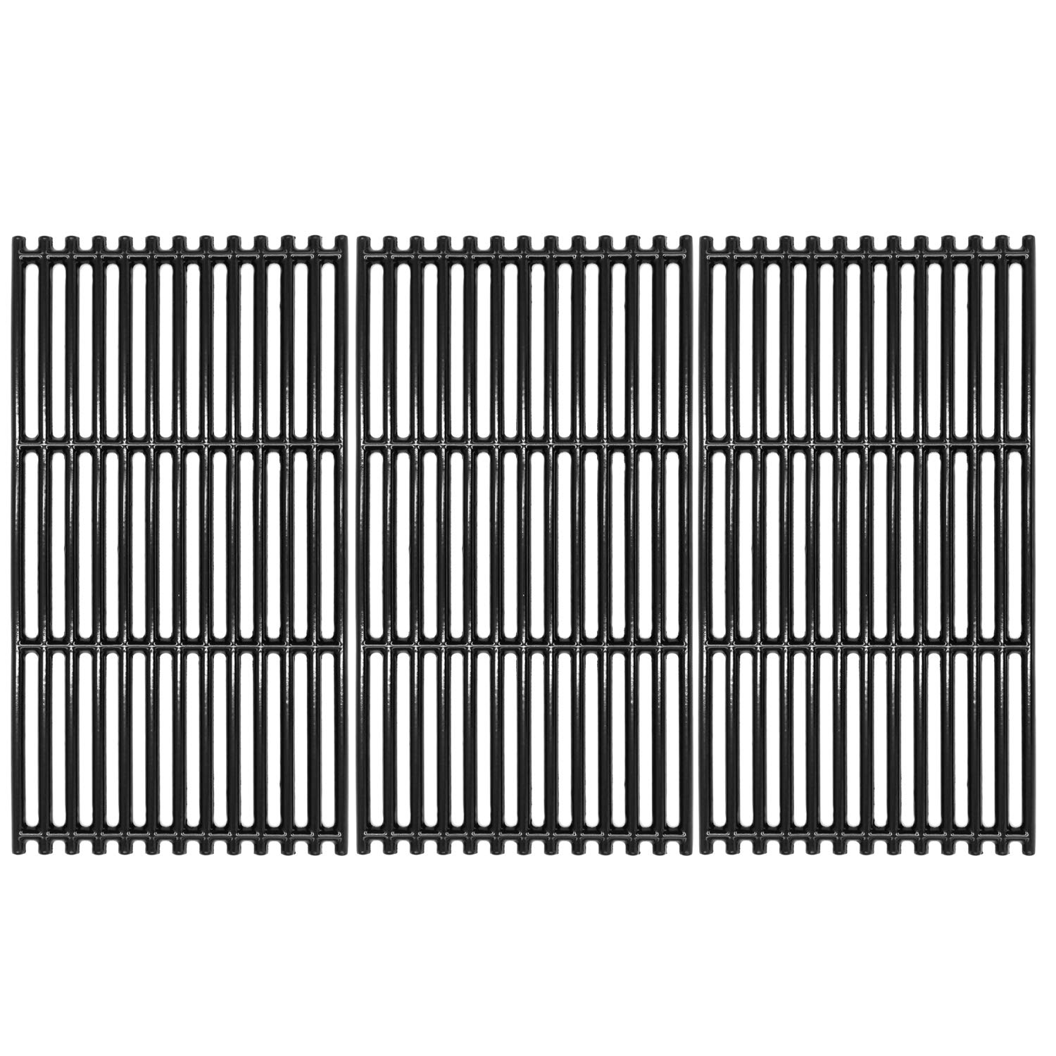 """VICOOL 17"""" Grill Grates Porcelain Coated Cast Iron Cooking Grid(Upgrade) for Charbroil Commercial TRU-Infrared 463242716, 466242715, Walmart #555179228, G533-0009-W1, Set of 3, hyG937C"""