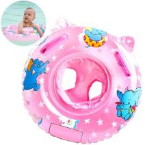 Sealive Baby Swimming Float Toddler Pool Float, Inflatable Pool Floats for Babies, Safety Swim Tranier Swimming Ring with Float Seat for 6-36 Months Children (Pink)