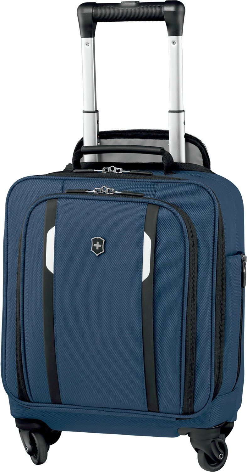 Victorinox Werks 5.0 Wheeled Tote with Pass Thru Sleeve, Navy Blue
