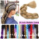 "Jumbo Braiding Hair Ash Blonde 1 Bundle Crochet Twist Hair Extensions 24 inch Box Braids Heat Resistance Synthetic Hair for Women DIY Fun(24"",Ash Blonde,1 Bundle)"