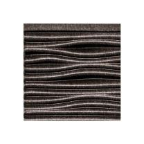 FASÄDE Waves Decorative Vinyl Backsplash Panel in Smoked Pewter (6X6 Inch Sample)