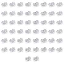 Catmade S925 Sterling Silver Plated Earring Backs for Studs Secure, 50Pcs/25Pairs Screw on Earring Backs/Earring Lifters/Earring Supplies, Hypoallergenic Flat Earring Backs for Droopy Ears