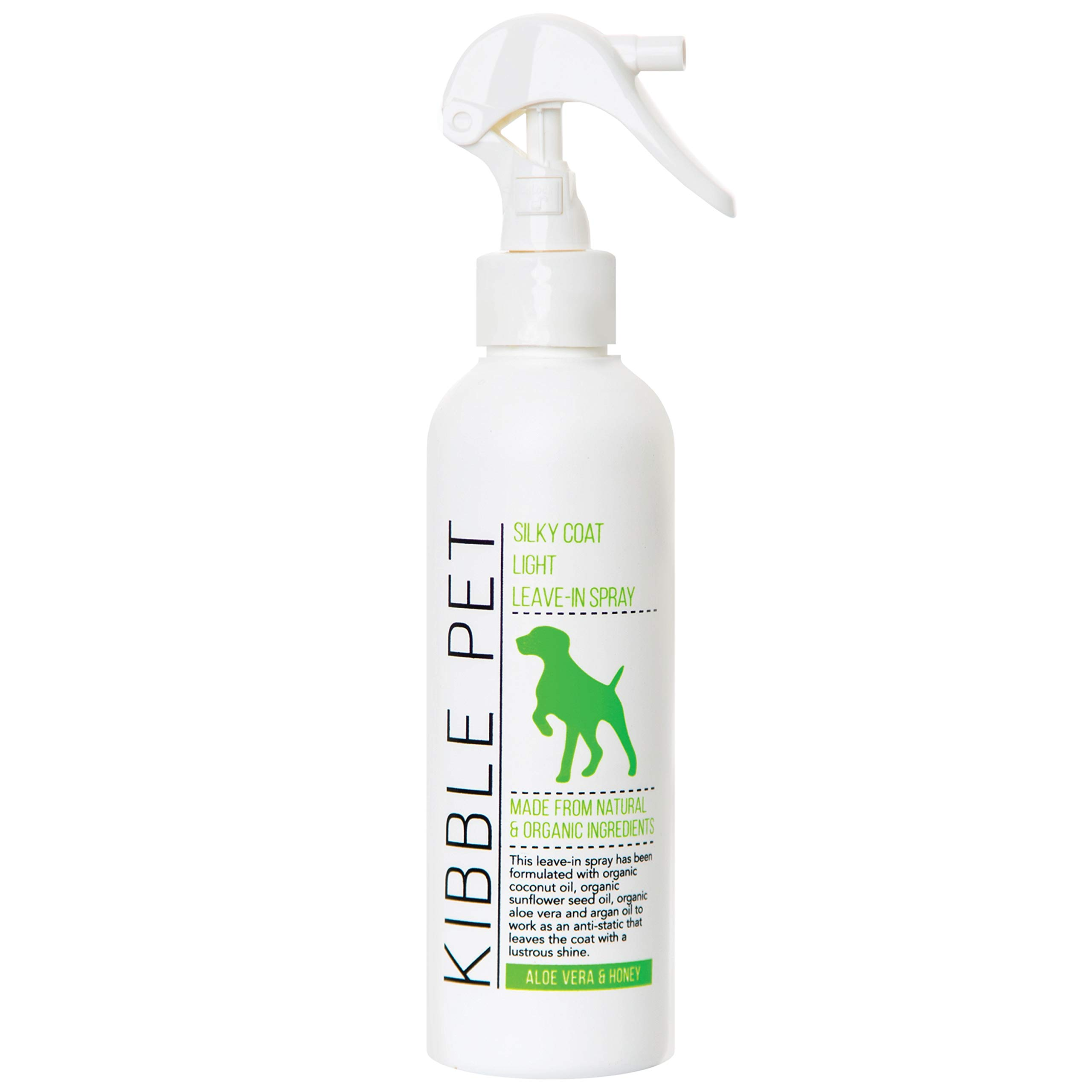 Kibble Pet Salon Quality Silky Coat Light Leave-in Spray Conditioner Hypoallergenic | Made with Natural and Organic Ingredients | Made in The USA | 7.1oz