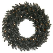 Vickerman Black Fir Wreath, K161824