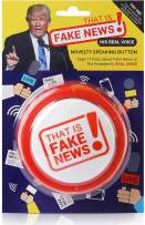 Donald Trump Fake News Button - 11 Fake News Quotes In Real Voice - Talking Gag Gift Desk Item - Gag Accessories Gifts for Men and Women - Funny Political Merchandise Stuff - Batteries Included
