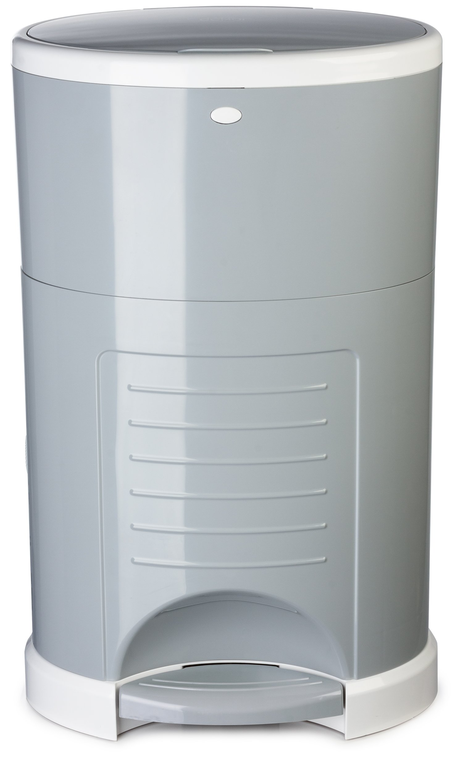 Dekor Plus Hands-Free Diaper Pail   Gray   Easiest to Use   Just Step – Drop – Done   Doesn't Absorb Odors   20 Second Bag Change   Most Economical Refill System  Great for Cloth Diapers