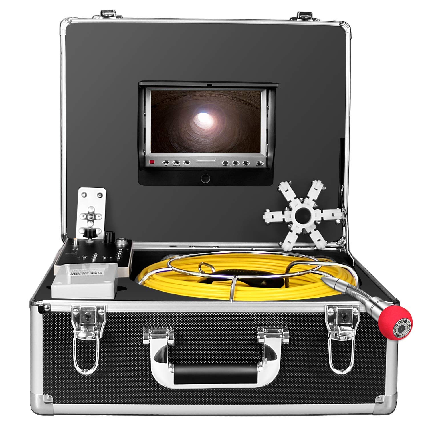 Pipe Inspection Camera,100ft Sewer Camera 30M Cable Pipeline Drain Sewer Industrial Endoscope Waterproof IP68 Cable Snake Video System with 7 Inch LCD Monitor 1000TVL Sony CCD DVR Recorder (30M-DVR)