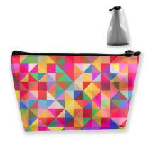 Travel Makeup Case Abstract Colorful Geometric Portable Organizer Makeup Bag Cosmetic Large Capacity Cosmetics Makeup Brushes Women Pouch Purse