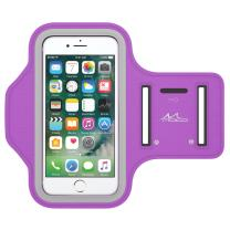 MoKo Phone Armband, Water Resistant Running Armband with Key Holder Adjustable Band Compatible with iPhone 11, 11 Pro Max, Xs Max, Xr, 8 Plus, 7 Plus, 6s Plus, 6 Plus for Walking Fitness, Purple
