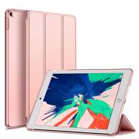Kenke iPad Case 9.7 Inch for 2017/2018,Ultra Slim Lightweight Smart Case Stand with Magnetic Wake/Sleep Function,iPad Cover for 5th/6th Generation-Hard Shell Rose Gold