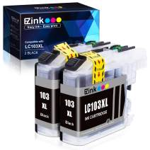 E-Z Ink (TM) Compatible Ink Cartridge Replacement for Brother LC-103XL LC103XL LC103 XL LC103BK High Yield to use with DCP-J4110DW DCP-J152W MFC-J285DW MFC-J870DW MFC-J245 MFC-J4310DW (Black, 2 Pack)