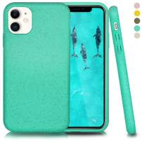 Inbeage Biodegradable iPhone 11 Phone Case,Eco-Friendly,Durable and Slim,6.1 Inches (Kelly Green)