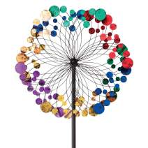 Bits and Pieces - Metallic Kaleidoscope Wind Spinner - Garden Décor - Weather Safe Finish Makes for Great Addition to Your Garden, Lawn or Patio
