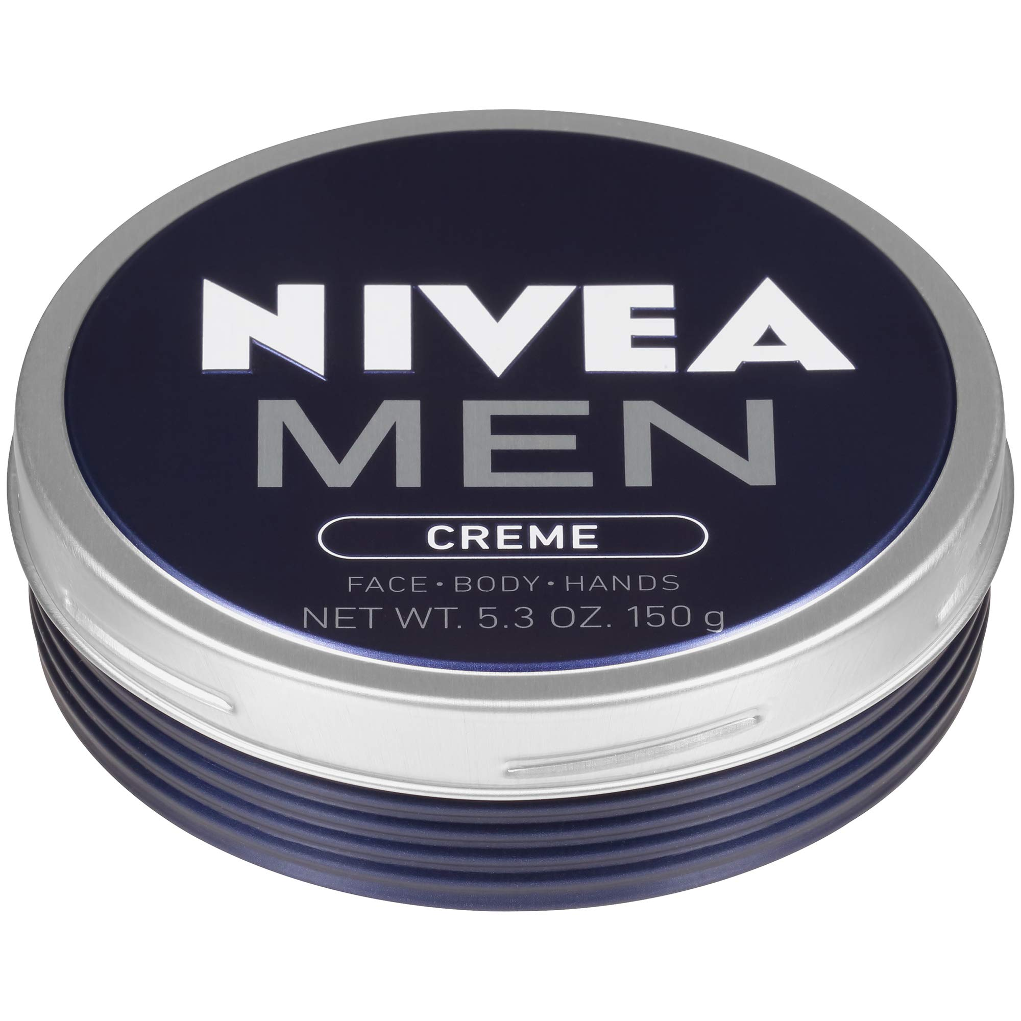 NIVEA Men Creme - Multipurpose Cream for Men - Face, hand and Body Lotion - 5.3 oz. Tin