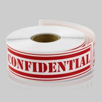 TUCO DEALS 1 x 4 Inch - Confidential Special Handling Instructions Stickers/Labels (Red, 2 Rolls Per Pack)
