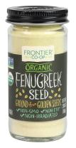 Frontier Organic Fenugreek Seed, Ground, 2 Ounce (Pack of 12)