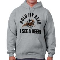 Hold My Beer I See A Deer Hunting Season Hoodie