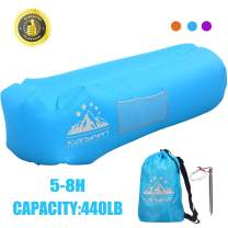 KARSEEN Inflatable Lounger Air Sofa Air Lounger Inflatable Lounge Lazy Sofa Bag Couch Sleeping Hammock Pool Float Portable for Indoors & Outdoors Camping Travel Beach Waterproof
