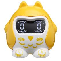 Alarm Clock Raynic Kids Alarm Clock 9 Soothing Sound Machine Toddler Clock Battery Operated Alarm Clocks for Bedroom (Yellow)