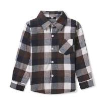 Phorecys Boys' Girls' Plaid Flannel Shirt Long Sleeve Button Down Buffalo Checkered Shirt