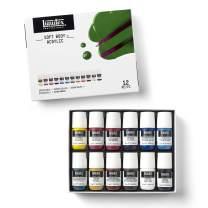 Liquitex Professional Soft Body Acrylic Paint, Essential Set, 12 Colors, 8 Fl Oz