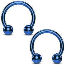 BodyJ4You 2PCS Horseshoe Circular Barbell Stainless Steel 00G-18G CBR Nose Nipple Tragus Lip Body Piercing
