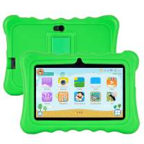 Kids Tablet for Kids Xgody T702 7 Inch Android 8.1 Tablet 1GB 16GB Storage Quad Core with WiFi Dual Camera IPS Safety Eye Protection Screen and Parents Control Mode Kid-Proof Case Green