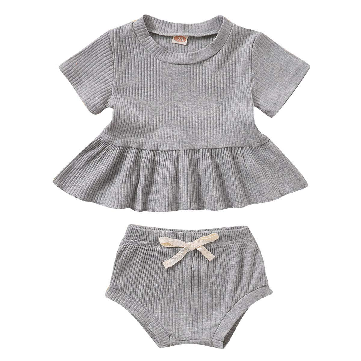 SANMIO 2PCS Cute Toddler Baby Girls Clothes Outfits with Panty Summer Short Set