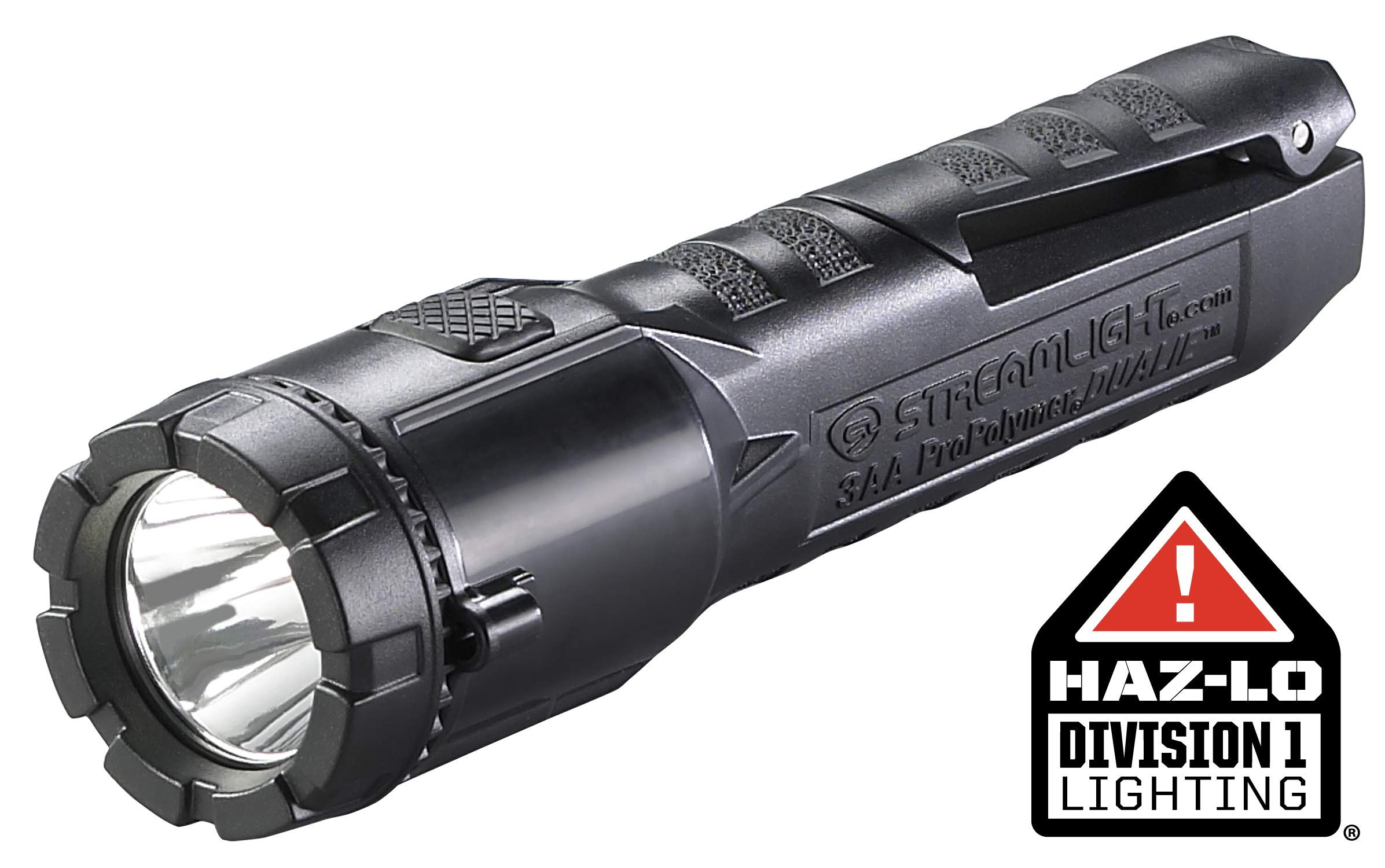 Streamlight 68753 Dualie 3AA 140-Lumen Dual Function Intrinsically Safe AA Battery Flashlight, Black – Without Batteries
