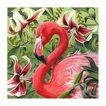 Maysurban DIY Diamond Painting Kits Full Drill 5D Diamond Painting Kits for Adults Art Craft Rhinestone Embroidery Painting for Home Decor 11.8x11.8 Inch Flamingo