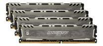 Crucial Ballistix Sport LT 2400 MHz DDR4 DRAM Desktop Gaming Memory Kit 32GB (8GBx4) CL16 BLS4K8G4D240FSBK (Gray)