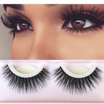 3D Lashes Self-adhesive False Eyelashes Makeup Reusable Natural Hand Made Fake Eyelashes 1 Pair Package 2018 New Style